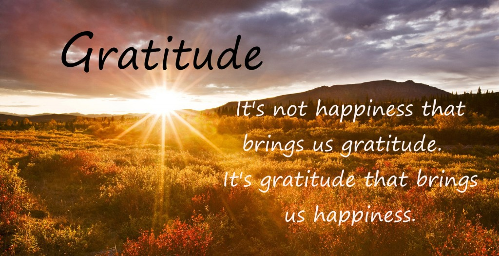 Being grateful